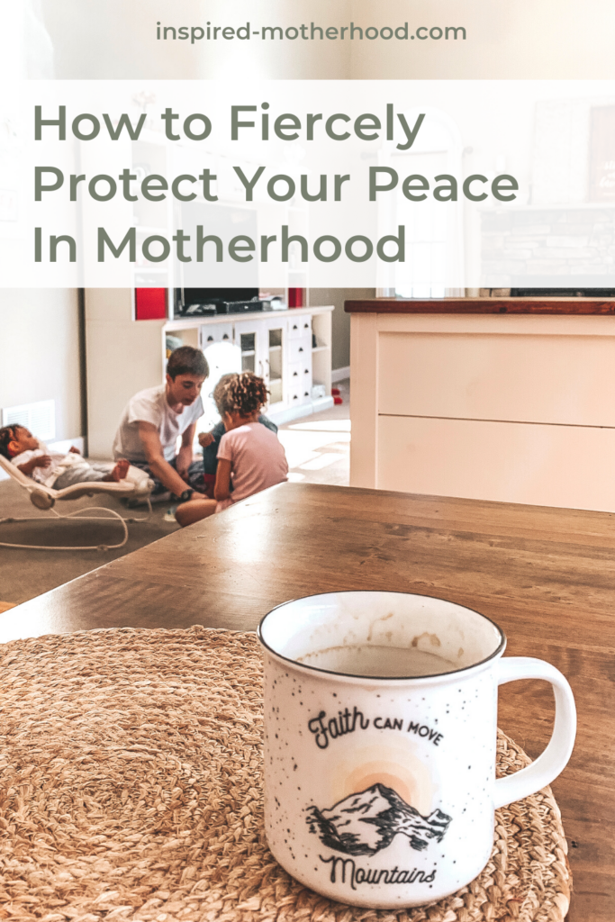 You can find peace in motherhood! Here are some practical ways to restore peace in your life as a mom.