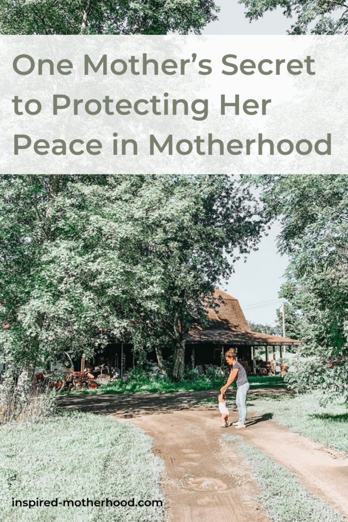 Motherhood comes with all new kinds of anxieties, but how do we protect our peace in motherhood? Find out how one mother found peace and hope in her motherhood journey.