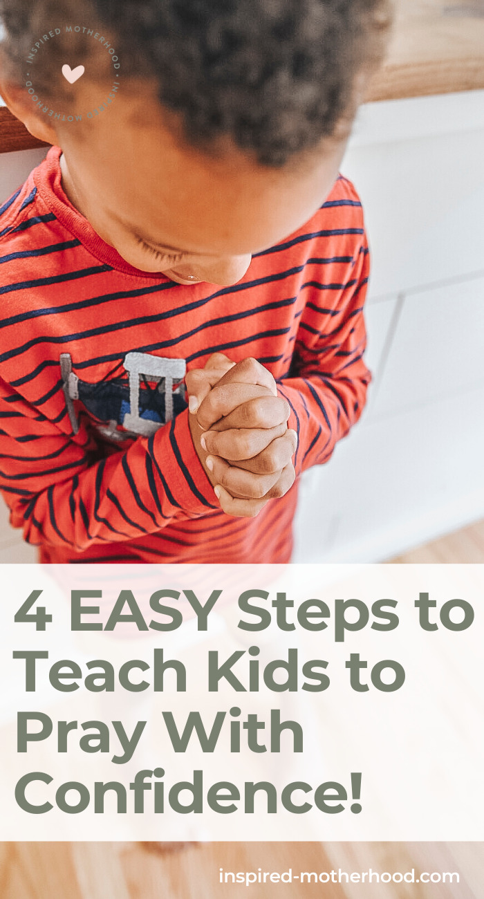 Jesus said let the little children come to me. Kids can learn how to pray powerful prayers with these 4 steps.
