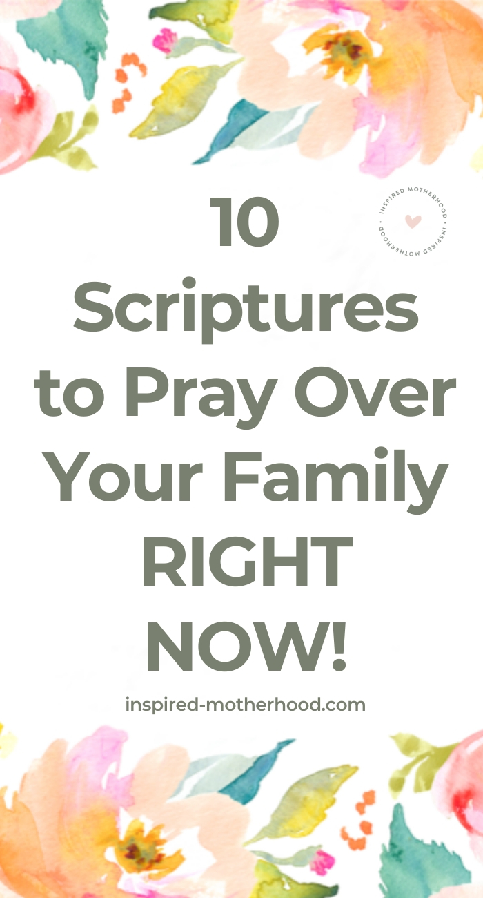 Here are 10 powerful scriptures to pray over your family right now! Use God's word to transform your family life. Free Printable with Scripture Included