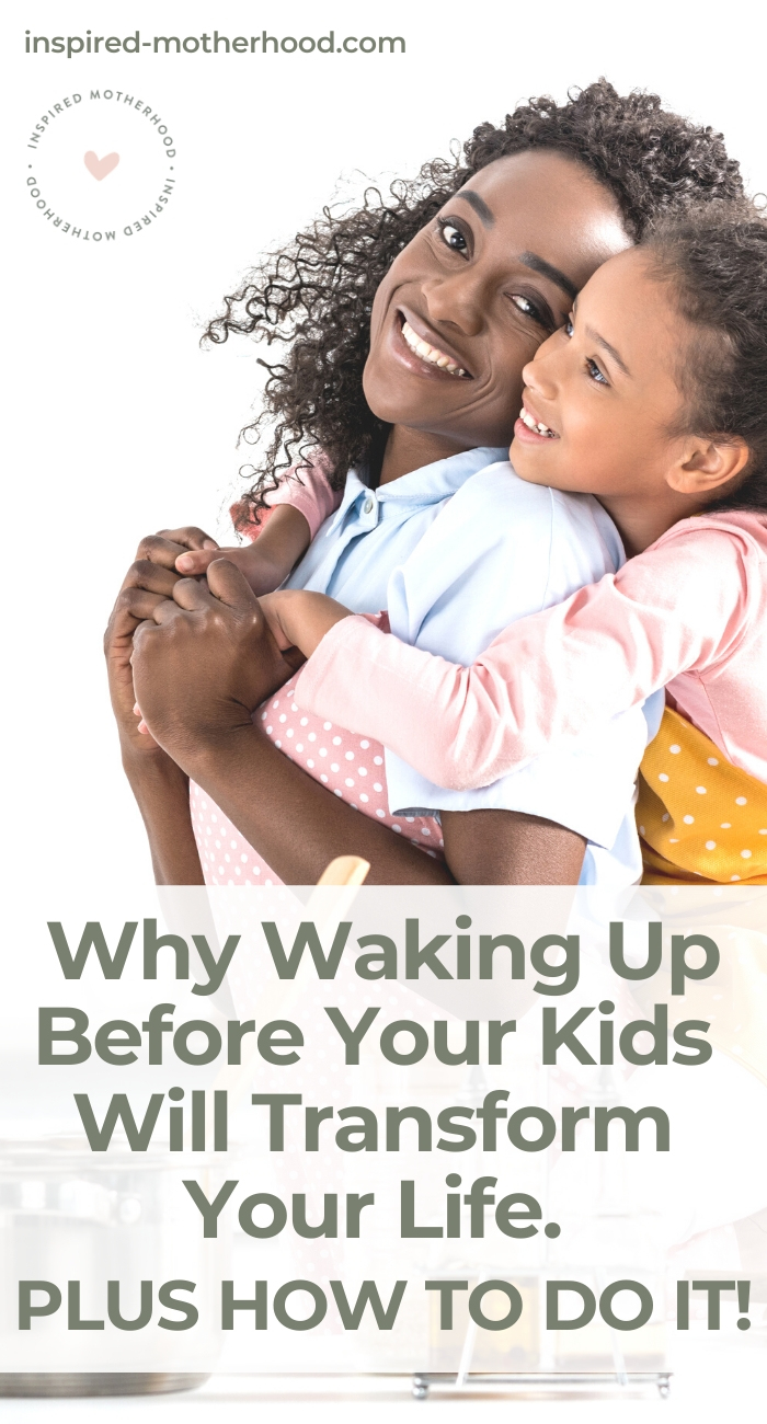 I was so used to using my kids as my alarm clock, but when I started setting boundaries and waking up before them I was a new mom. A better mom! Learn how to do this in your family.