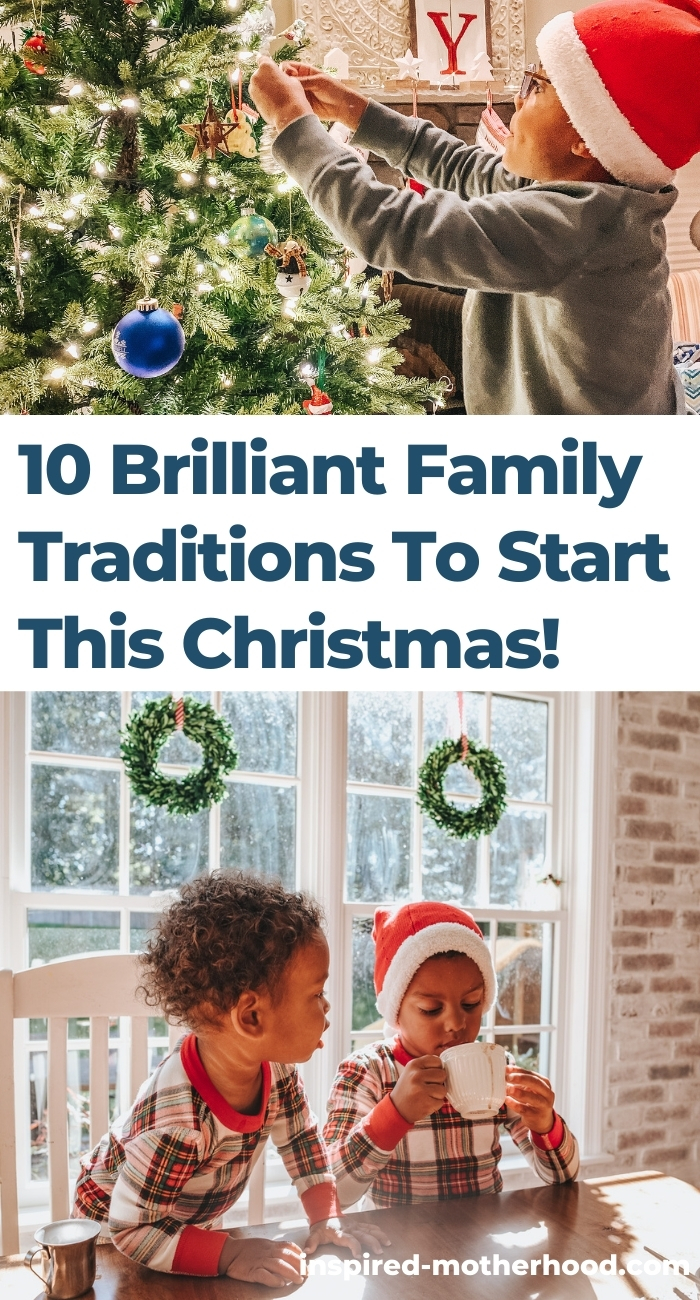10 BRILLIANT family traditions to start this Christmas. Wonderful ways to connect with your family during the holidays. I love number 8!