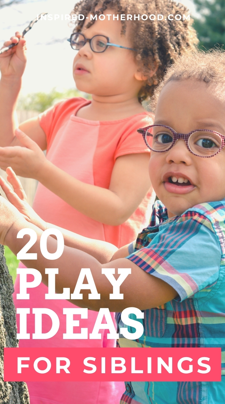 Build a strong sibling bond with these easy kid's activities. Over 20 play ideas for siblings!