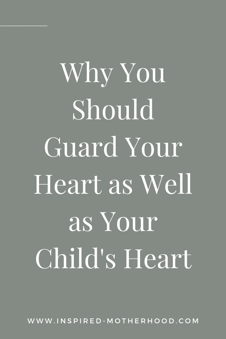 Have you ever had one of those moments where you felt the Holy Spirit tugging at your heart, but you kinda wanted to ignore it? Yeah, me too. Today I want to share with you what this tugging means and why you should guard your heart as well as your child's heart.