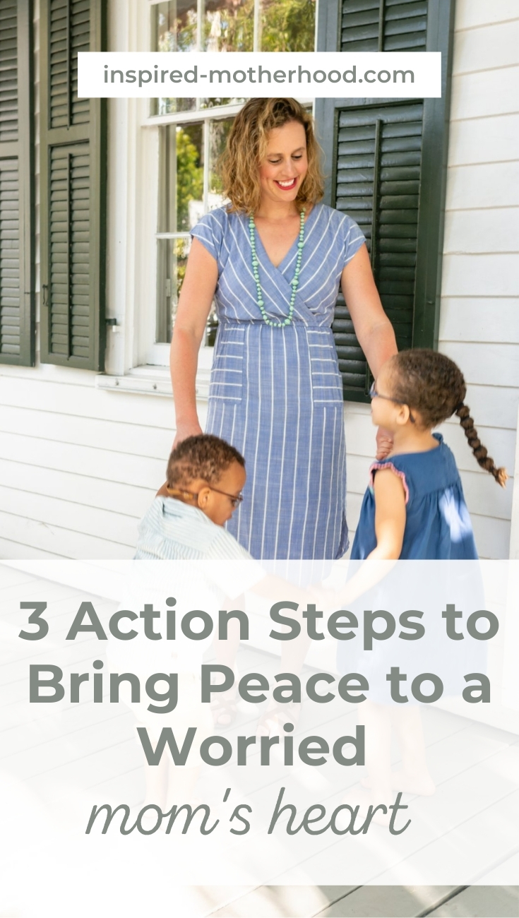 Anxiety is so hard especially when you become a parent. You can find peace by going through these three easy steps. A worried mom's heart will slowly disappeared and you will experience joy in parenthood instead of fear.