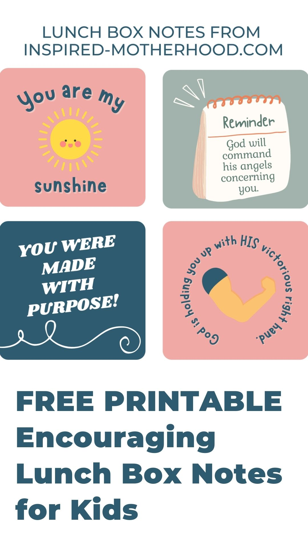 Speak life over your children with these printable lunch box notes. Encourage your children throughout the day with God's promises.